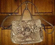 COACH CAMPBELL SNAKE 🐍EMBOSSED EXOTIC LEATHER FLAP SATCHEL CROSSBODY BAG F27895