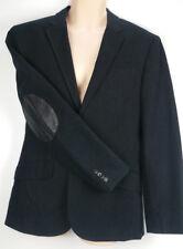 Armani Exchange A/X Sportcoat Blazer Suit Jacket Black Pinstripe Elbow Patch 40
