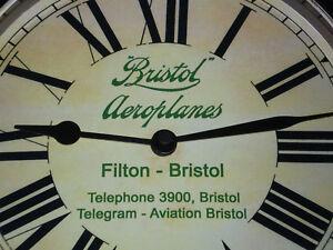 Bristol Aeroplanes Filton, Royal Flying Corps, Vintage Style Wall Clock.