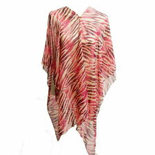 KAFTAN  Top / Shawl - Pink Animal Print - One Size Fits Most