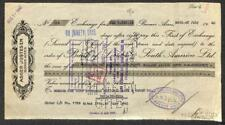 BILL OF EXCHANGE BUENOS AIRES ARGENTINA ASGER JUSTESEN BANK CHECK 1940