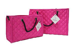 ZOE Quilted Organizer Handbag Purse Insert Removable Base 2-PK Fits HERMES BAG