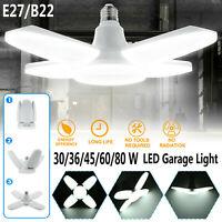 30-80W E27/B22 Deformable LED Garage Arbeitslicht Verstellbar Decke Einbau Lamp