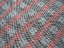 E38 Black Grey Red Multi Diagonal Check Design Lightweight Ladies Scarf Pashmina