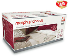 MORPHY RICHARDS ALL NIGHT HEATED UNDERBLANKET FLEECE SINGLE WASHABLE 4 HEAT