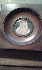 Cadre bois miniature portrait d'une femme sainte