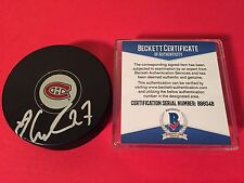 Alex Galchenyuk Canadiens  Signed Puck Auto Beckett BAS COA