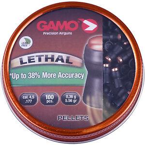 Gamo Lethal Pellets .177 Non Lead Airgun Air Riflle Hunting Pest Control 100 Pk