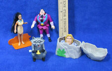 Burger King Toys Disney Pocahantas John Smith Racoon Wind Up & Bad Man Figurines