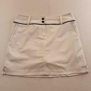 Adidas Climacool Womens Size 6 Waist 31 White Golf Golfing Skirt Skort Logo 17L