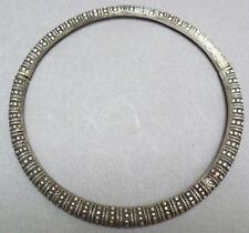 Girocollo collana metallica argento massiccio Cina 19e s silver Indocina Cinese