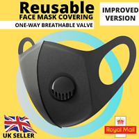 Reusable Face Mask Covering with Breathable Valve Filter Respiratory | ADULT
