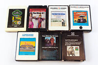 Movie Soundtracks: Diner, Love Story, The Way We Were & More 7 x 8 Track Tapes