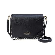 NWT $178 Kate Spade Cobble Hill Straw Abela Crossbody Bag PXRU7551 Black/Cement