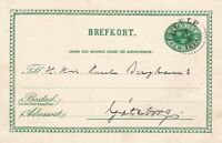 Sweden 1895 to Paul Berghaus Gefle Cancel Post Card to Goteborg Ref 45755