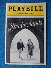 Shadowlands - Brooks Atkinson Theatre Playbill - March 1991 - Jane Alexander