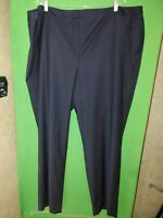 2894) TALBOTS  24W cool wool straight leg navy blue dress pants front zip 24W