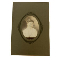 Antique Cabinet Card Photograph Victorian Beautiful Teen Girl Blue Eyes