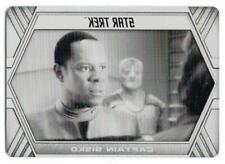 Star Trek Inflexions (2019) BLACK PRINTING PLATE Trading Card #42 CAPTAIN SISKO