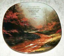 Thomas Kinkade Squared Plate Heaven On Earth Let Your Light Shine