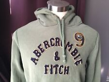 Vintage Abercrombie & Fitch Hoodie Distressed Men size L Lake Placid Pullover