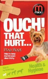 MIKKI OUCH THAT HURT INJURED DOG PUPPY PAW FOOT PROTECTION BOOT SHOE SIZE CHOICE