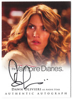 The Vampire Diaries 2 Auto Autograph Card Dawn Olivieri Andie Star A19