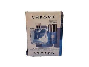 Chrome By Azzaro 3.4 oz With 2.7 oz Alcohol Free Deodorant Stick