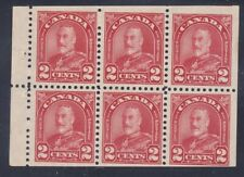 Canada 165b Mint OG 1930 2c Deep Red KGV Booklet Pane of 6 Very Fine