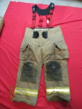 Lion Janesville 44r Firefighter Turnout Bunker Gear Pants Tow Suspenders