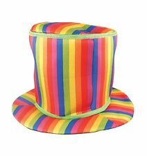 RAINBOW MAGICIAN STYLE SOFT TOP HAT FANCY DRESS ACCESSORY
