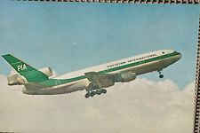 AK Airliner Postcard PIA PAKISTAN DC-10 airline issue