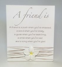 Splosh A Friend is Poem Plaque Friendship Christmas Gift Ideas for Friends Her