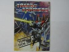 Booklet Poster Vintage 1984 Hasbro Transformers G1 Catalog Order Form