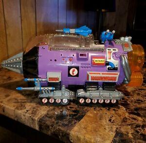 TMNT MODULE DRILL Vehicle 1990 Teenage Mutant Ninja Turtles NEAR COMPLETE