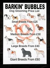 DOG GROOMING *PRICE LISTS* X 2 personalised stationery by GROOMERGRAPHIX