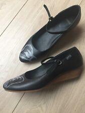 CAMPER Damen Pumps Riemchen Ballerinas Schuhe, Keilabsatz, Leder schwarz,neu, 38