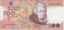 Portugal banknote P180b-6136 500 Escudos Ch.12. 4.8.1988 pfx ASD, scarce VF -EF