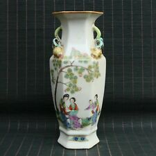 Chinese Porcelain Handmade Draw Exquisite Figure Vase 80172