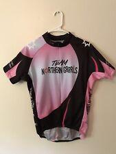 Atac Sportswear Cycling Jersey Shirt Pink Black White Women's Size Large 3/4 Zip