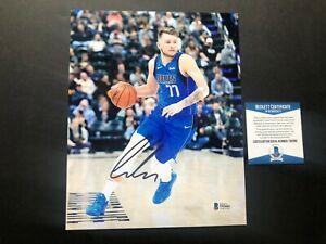Luka Doncic Rare! signed autographed Mavericks NBA 8x10 photo Beckett BAS coa