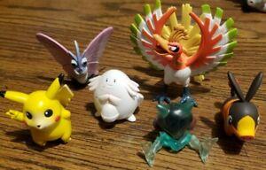 Pokemon TOMY Figures Lot Of 6 CGTSJ CG Vintage PVC Nintendo 90's