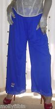 Vintage style blue silky nylon pantie slip~pettipant~culottes~bloomers 20~22