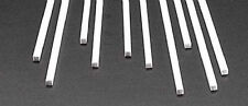NEW Plastruct Square Rod Styrene 1/8  (10) 90780