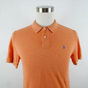 Polo Ralph Lauren Boys Cotton SS Solid Pastel Orange Polo Shirt Youth XL 18/20