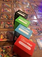 Pokemon Card Lot 100 OFFICIAL TCG Cards Ultra Rare, + Ultra Pro DeckBox Included