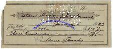 Anne Lansky - wife of Jewish mobster Meyer Lansky - signed check 1929