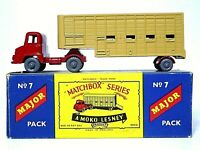 Matchbox Lesney M-7a Ford Thames Trader Jennings Cattle Trailer Type 'B' Box