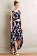 NWT Anthropologie Diamant Maxi Dress by Maeve Sz XSP Petite Blue Motif