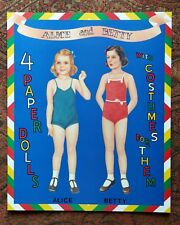 Alice Betty Connie & Doris Paper Dolls Shackman 1995 Vtg Uncut Nos